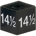 Size Cube 14.5 - Black, pack of 50