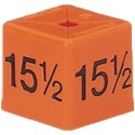 Size Cube 15.5 - Orange, pack of 50