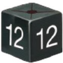 Size Cube 12 - Black, pack of 50