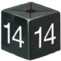 Size Cube 14 - Black, pack of 50