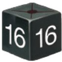 Size Cube 16 - Black, pack of 50