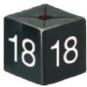 Size Cube 18 - Black, pack of 50