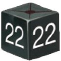 Size Cube 22 - Black, pack of 50