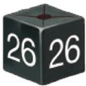 Size Cube 26 - Black, pack of 50
