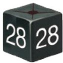 Size Cube 28 - Black, pack of 50