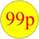Self Adhesive 99p Promotional Labels, Box of 500