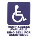 Self Adhesive Ramp Access Available Sign