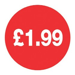 Price Point Labels - £1.99p