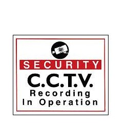 Vinyl Sign, Self Adhesive FRONT - Security CCTV etc. - 190mm x 165mm